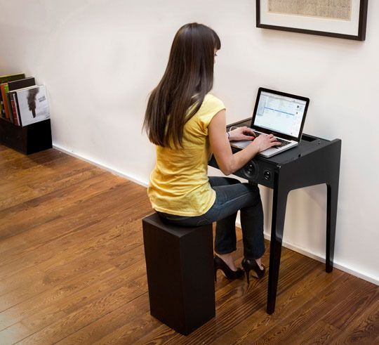 Small Space Luxury: La Boite LD Series Laptop Dock Desks | Small ...
