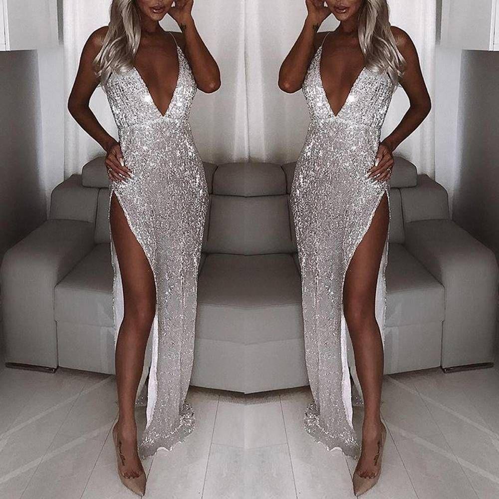 White Sparkle Sequin Cocktail Maxi Dress Long Sleeve Mermaid Dress Maxi Dress Cocktail Sparkle Dress [ 1000 x 1000 Pixel ]