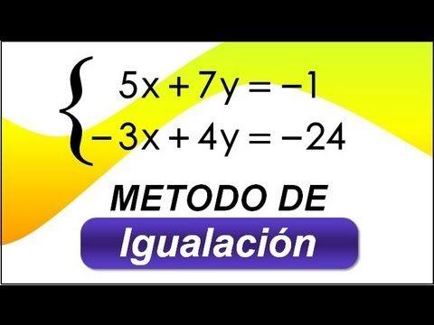 Metodo De Igualacion Sistemas De Ecuaciones De Primer Grado Con 2 Varia Sistemas De Ecuaciones Funciones Matematicas Blog De Matematicas