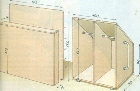 Construire une armoire amenagement combles pinterest construire armoires et rangement combles - Construire une armoire de rangement ...
