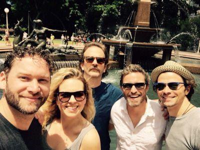 Jason Manns, Matt Cohen, Brianna, Rob + Rich in Sydney for AHBL ...