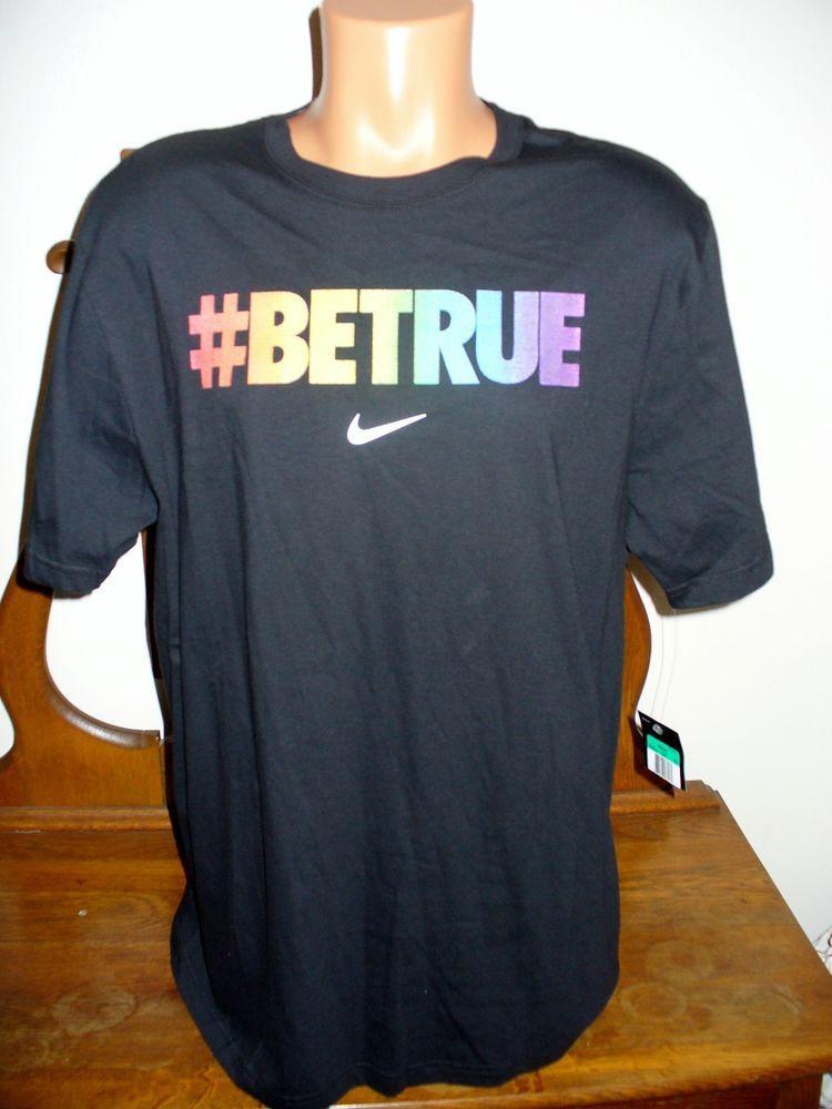 e8b2145c NEW NIKE MEN'S # BE TRUE REFLECTIVE RAINBOW T-SHIRT XL GAY PRIDE LGBT  COLLECTION #Nike #ShirtsTops