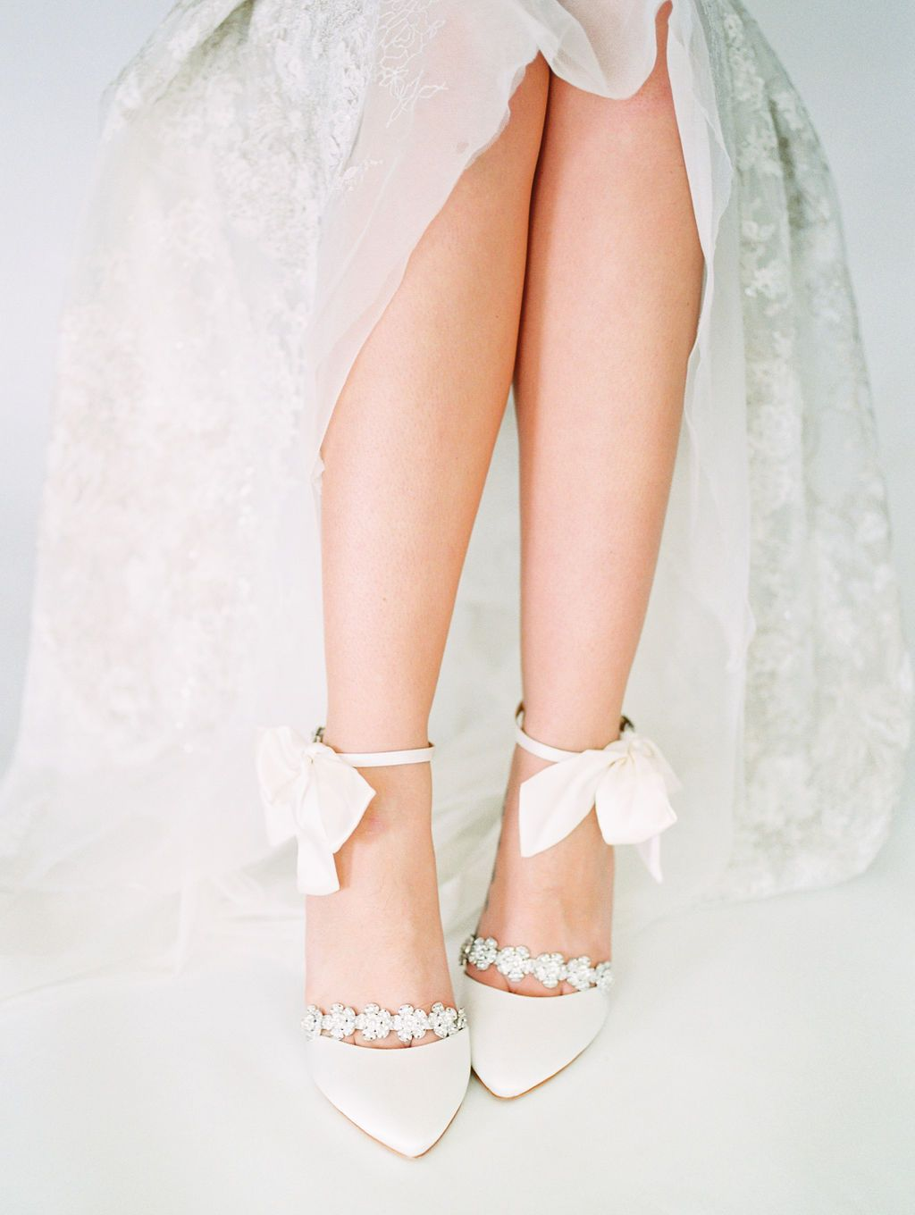 Ivory Bridal Shoes With Bows Jewels Wedding Shoe Ivory Wedding Shoes Wedding Shoes