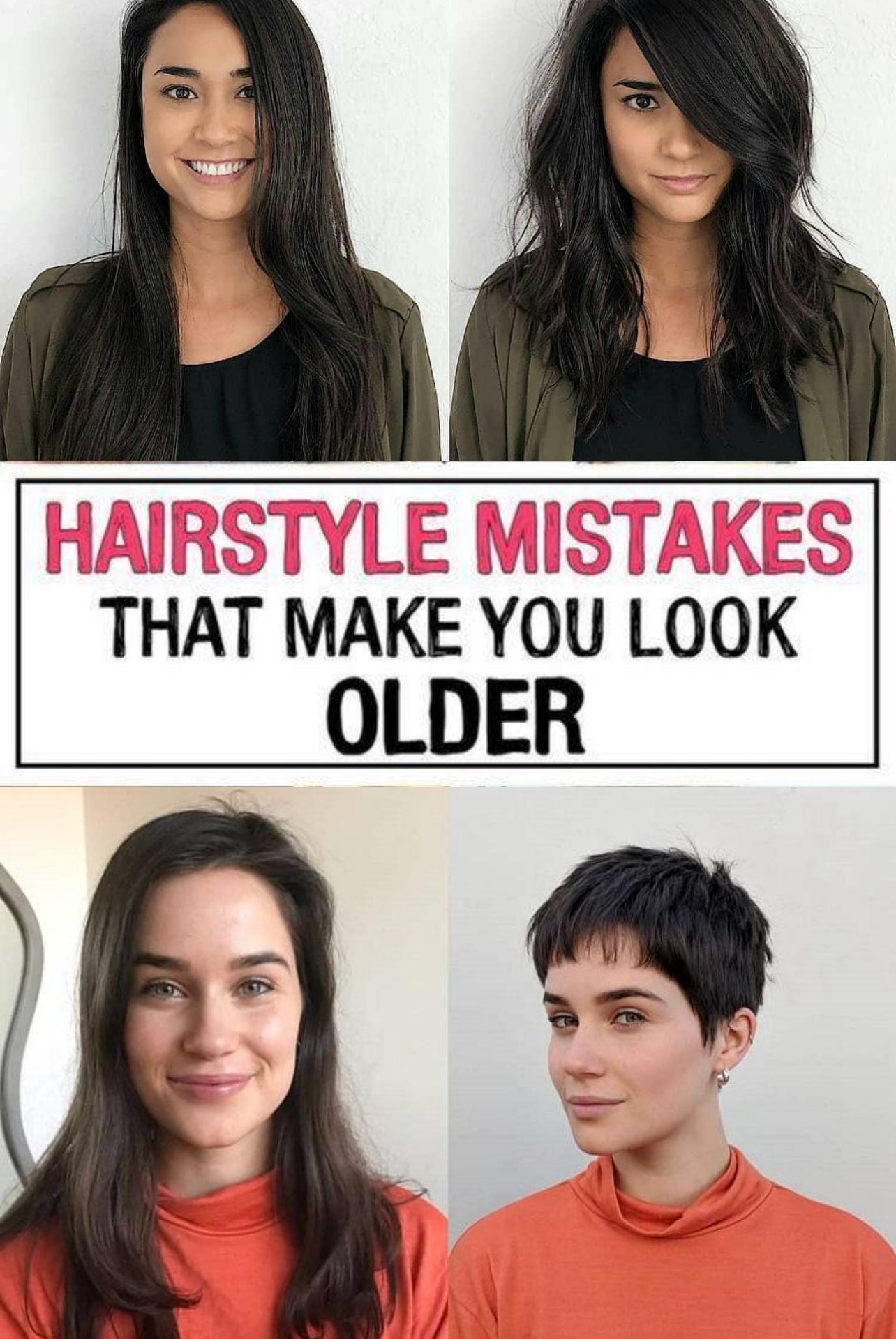 37 Hairstyle Mistakes That Are Aging You In 2020 Mom Hairstyles Hair Advice Hair Mistakes