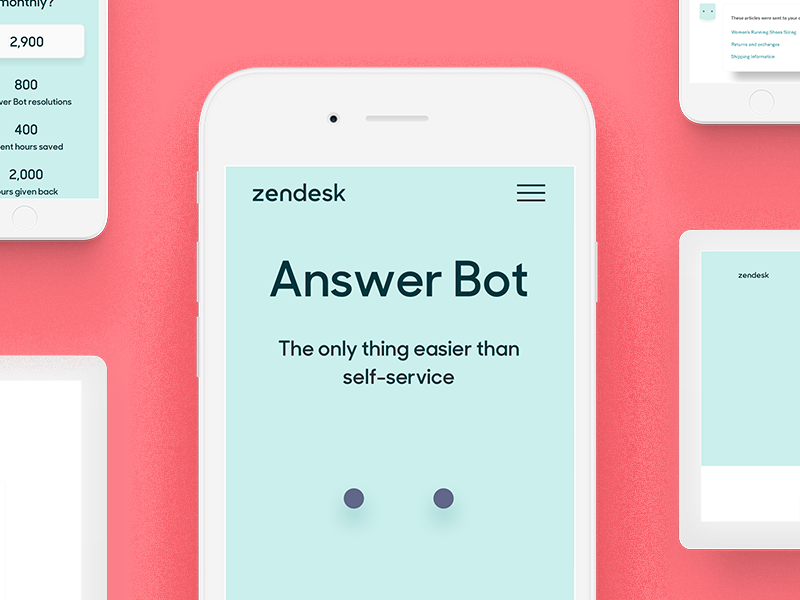 Zendesk Answer Bot | Colors | App design, Design, App