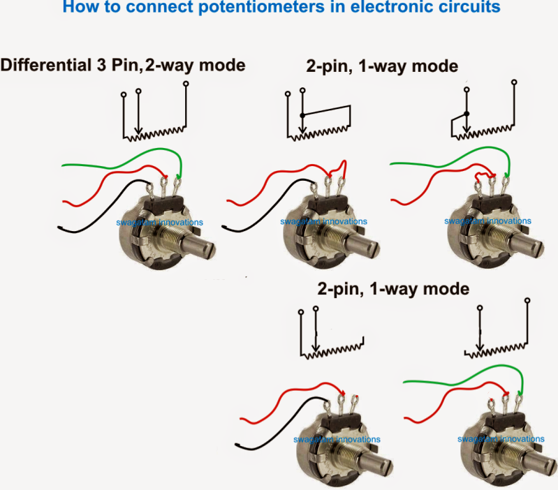 3 Pin Potentiometer Wiring Wire Center Electronics Circuit Electronics Basics Electronics Components