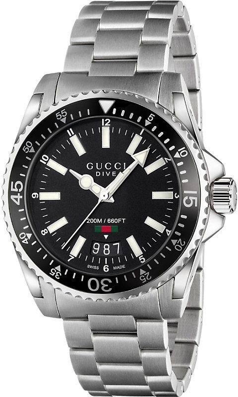 30c5c925bf8 Gucci YA136301 Dive stainless steel watch