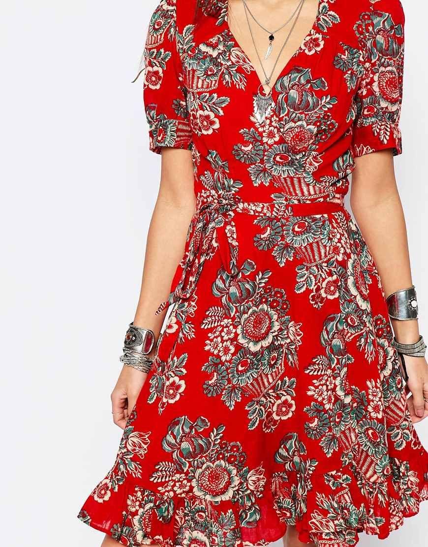 b66fced1363 Image 3 of Denim   Supply By Ralph Lauren Floral Wrap Tea Dress