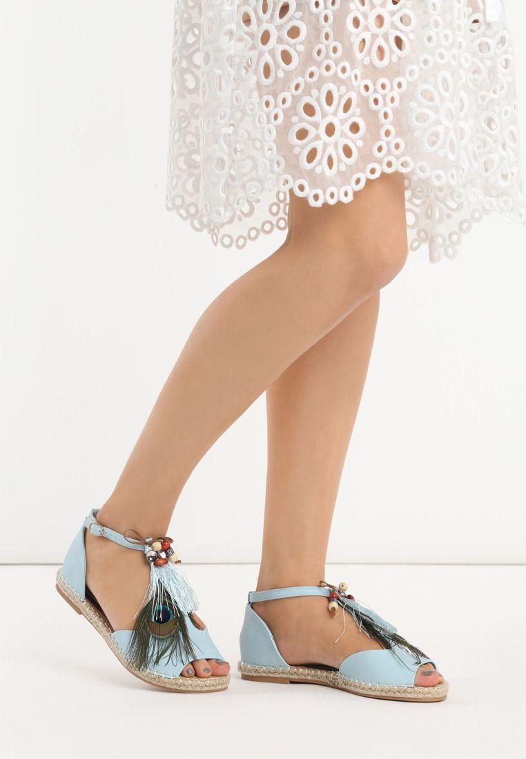 Niebieskie Espadryle Gohome Born2be Pl Shoes Fashion Wedding Shoe