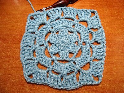 Lacy flower granny square free #crochet pattern from Meladora\'s ...