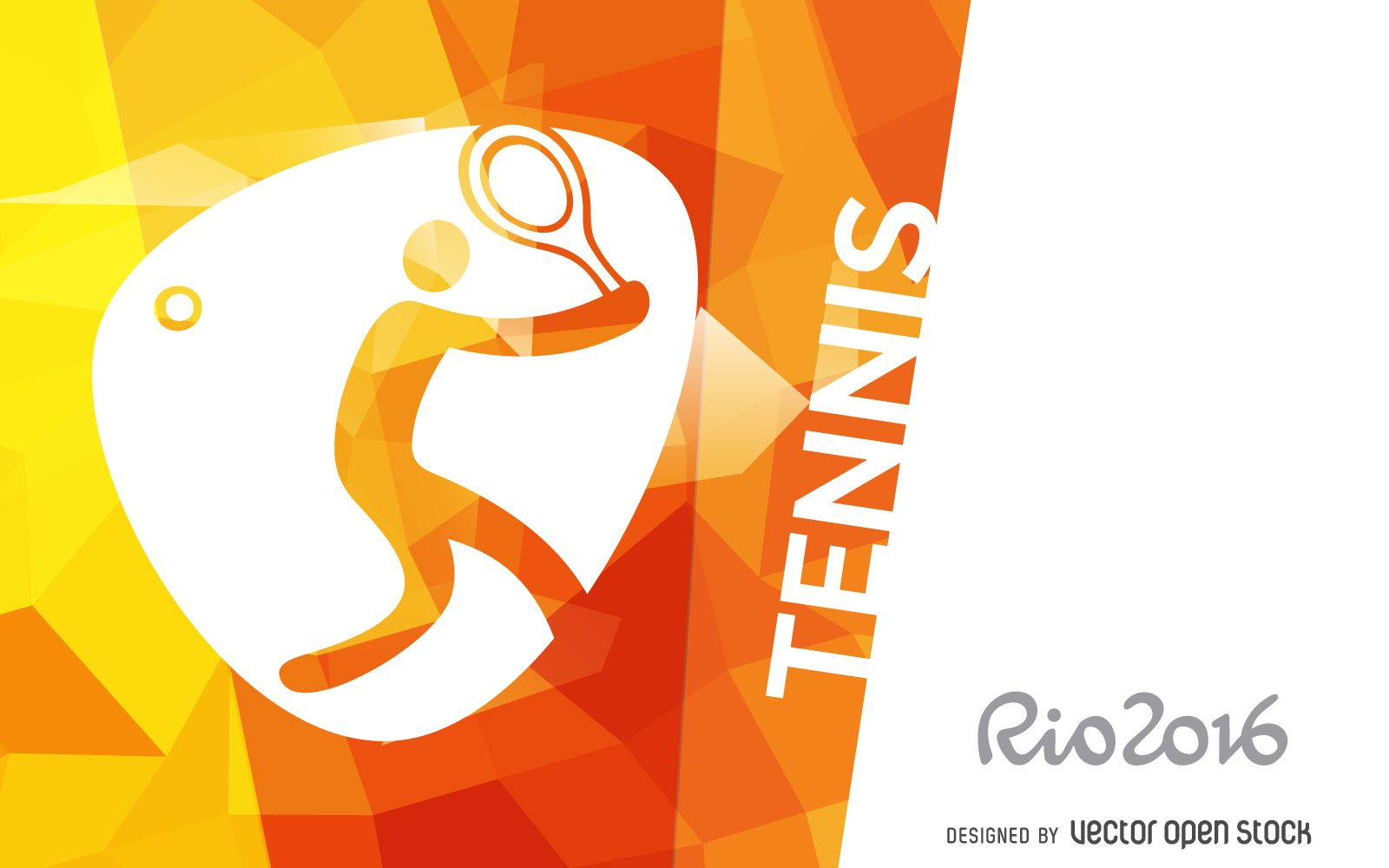 Olympic rings logo rio 2016 olympics logo designed by fred gelli - Rio 2016 Design Featuring The Official Tennis Pictogram Design Also Includes Rio 2016 Logo At The Left Side And It Says Tennis In Big Capital Letters