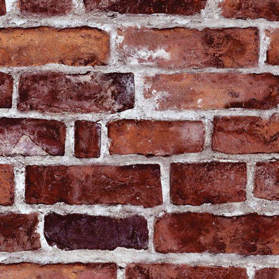 Red Brick Self Adhesive Fabric Wallpaper Repositionable Etsy Brick Wallpaper Peel And Stick Brick Wallpaper Red Brick Wallpaper
