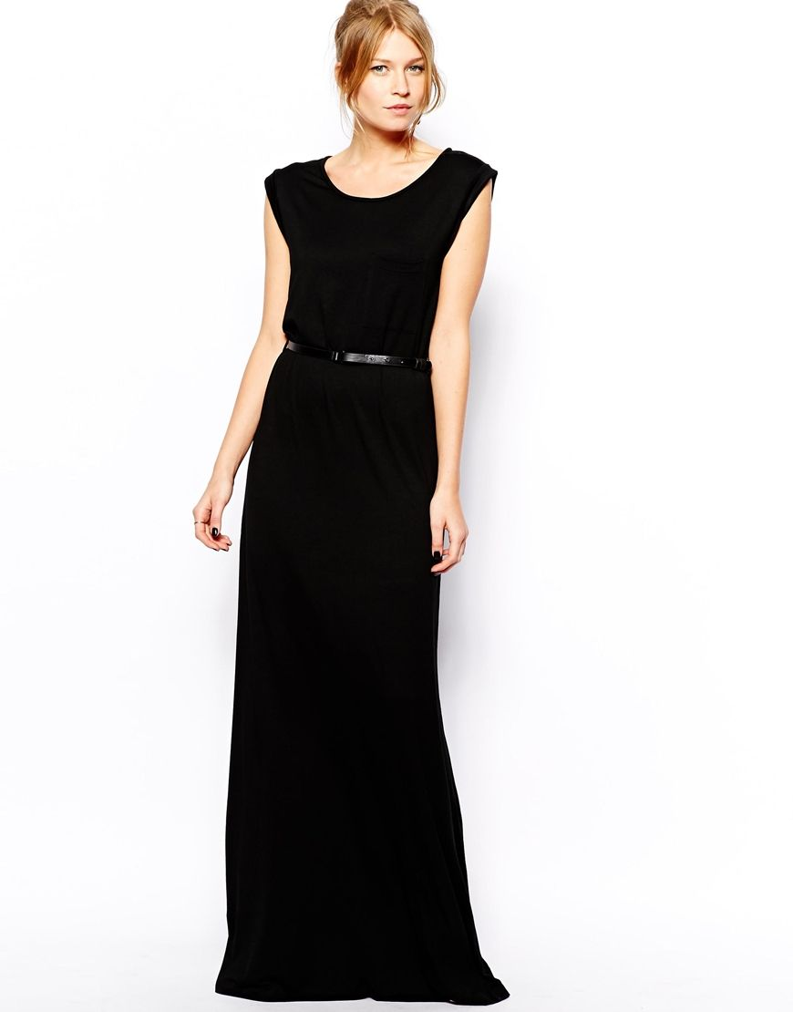 a3a2eca6d Mango Black Maxi Dress With Pleated Skirt And Open Back