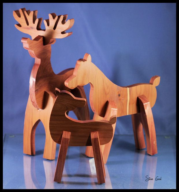 Reindeer Family Scroll Saw Pattern Wood Crafts Scroll Saw