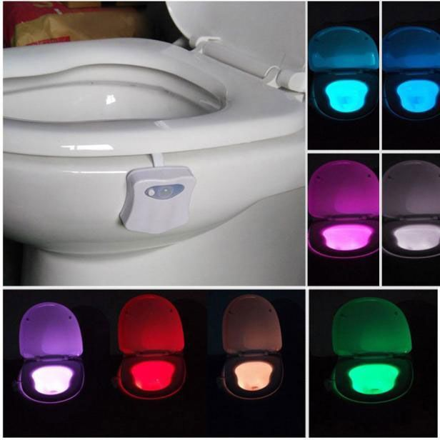 Toilet Bowl Nightlight Bathroom Night Light Sensor Night Lights Toilet