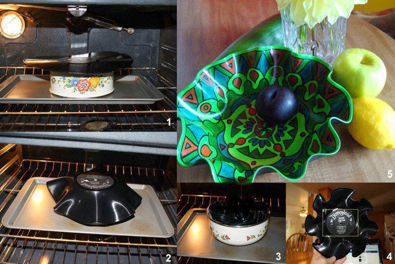 MUY ORIGINAL! Frutero con disco de vinilo #manualidades #reciclaje