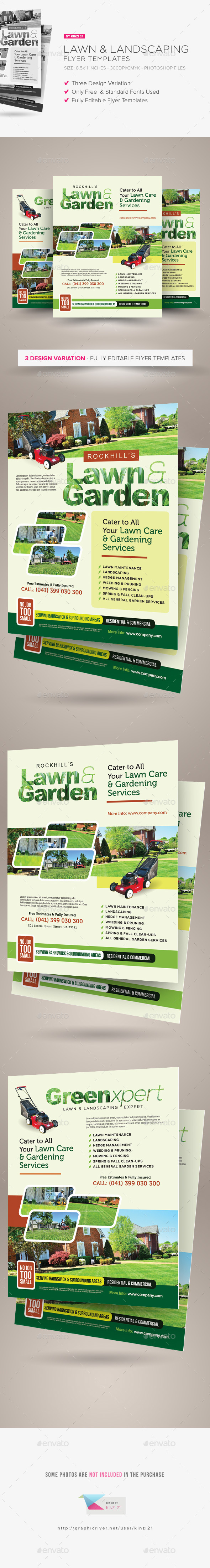 lawn u0026 landscaping flyer templates flyer template lawn and graphics