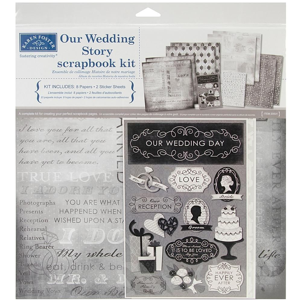 "Karen Foster Scrapbook Page Kit 12/""x12/""-born To Fish"