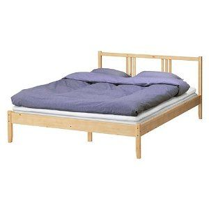 Amazon Ikea Full Bed Frame Solid Wood With Headboard Furniture Decor