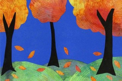 Coffee Filter Trees With Grass Fall Art Projects Autumn Art