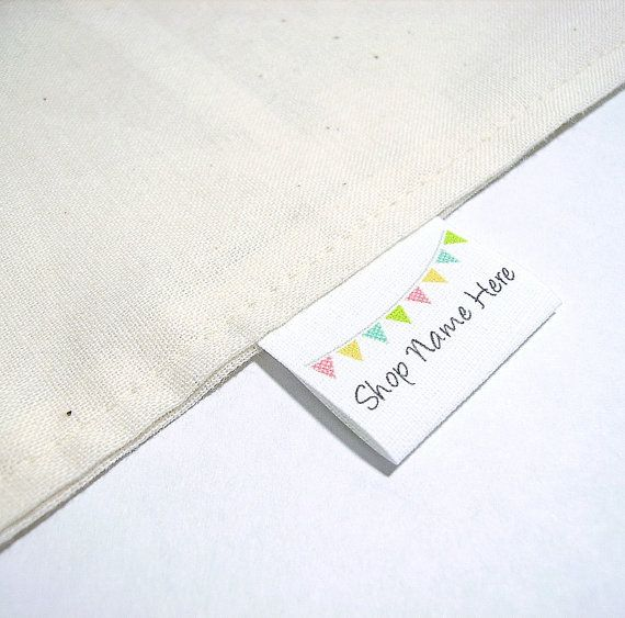 100 Fold Over Style Handmade Sew On Cotton Fabric Labels By Sbshop 25 00 Quilt Labels Fabric Labels Sewing