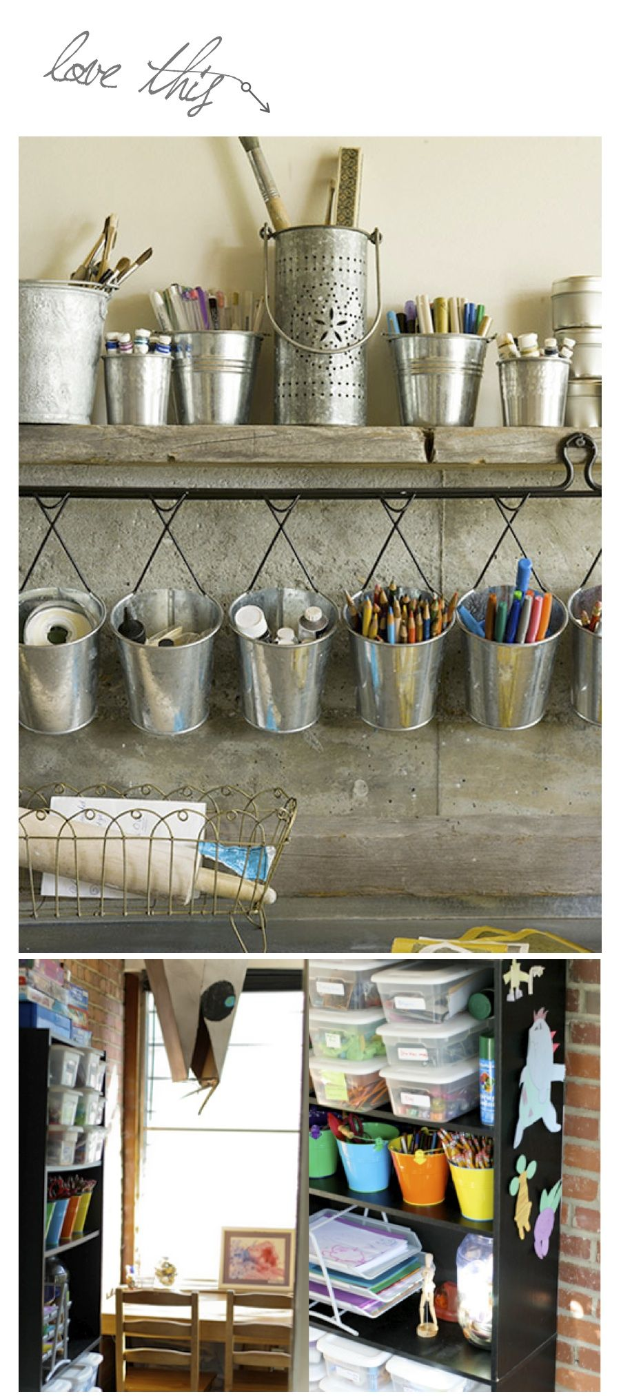 Now this is how to organize your art studio!