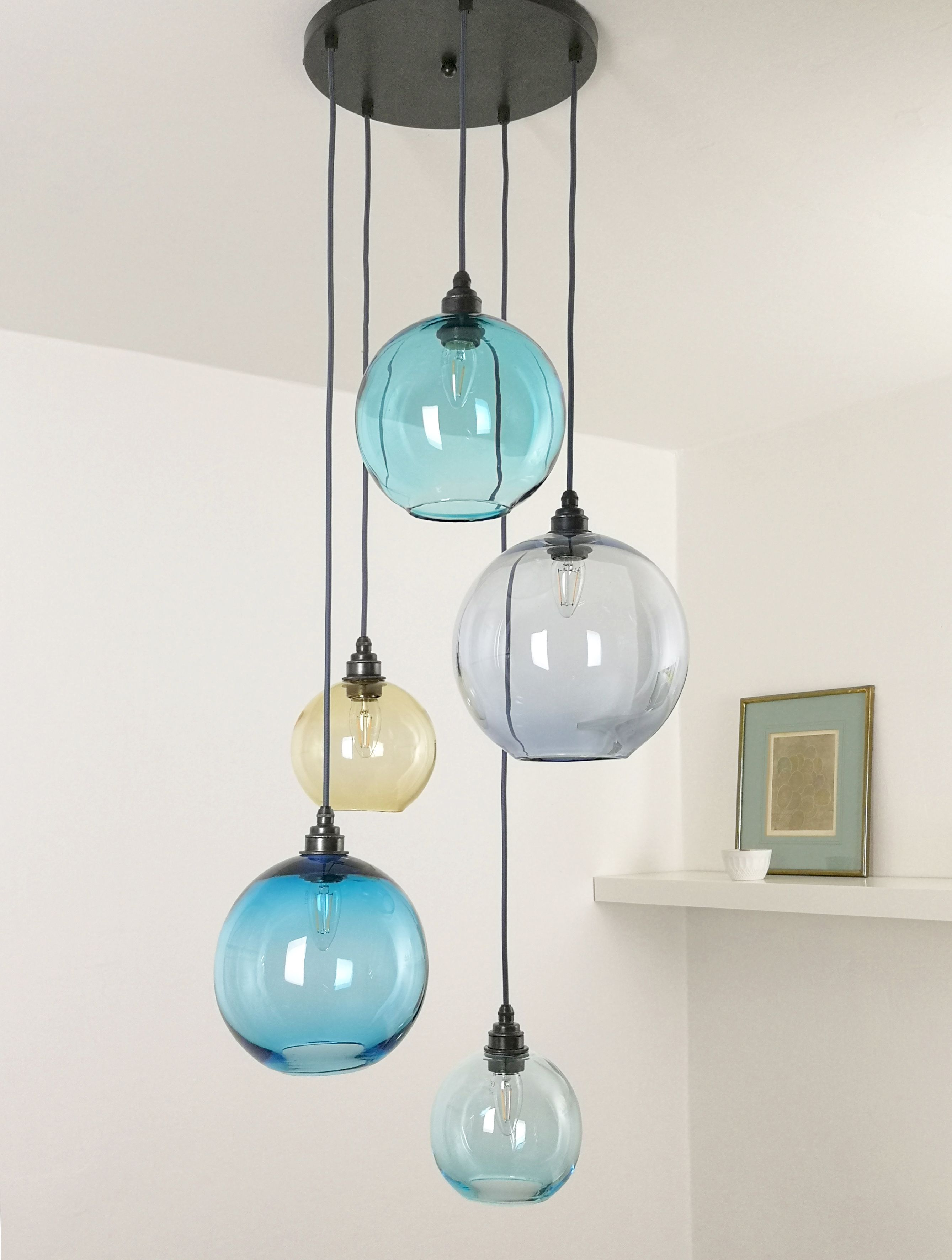Explore Gallery of Coloured Glass Chandelier (Showing 4 of