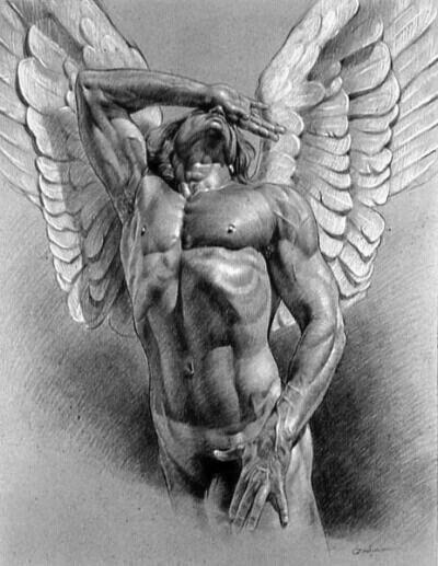 Crying Angel Print by Victor Gadino