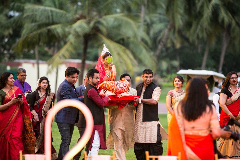 Bengali bridal entrance weddingsbyAnkit Ankit.in