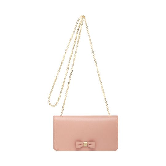 36add29932ba ... buy bow clutch wallet in ballet pink shiny goat mulberry df1a6 e1491 ...