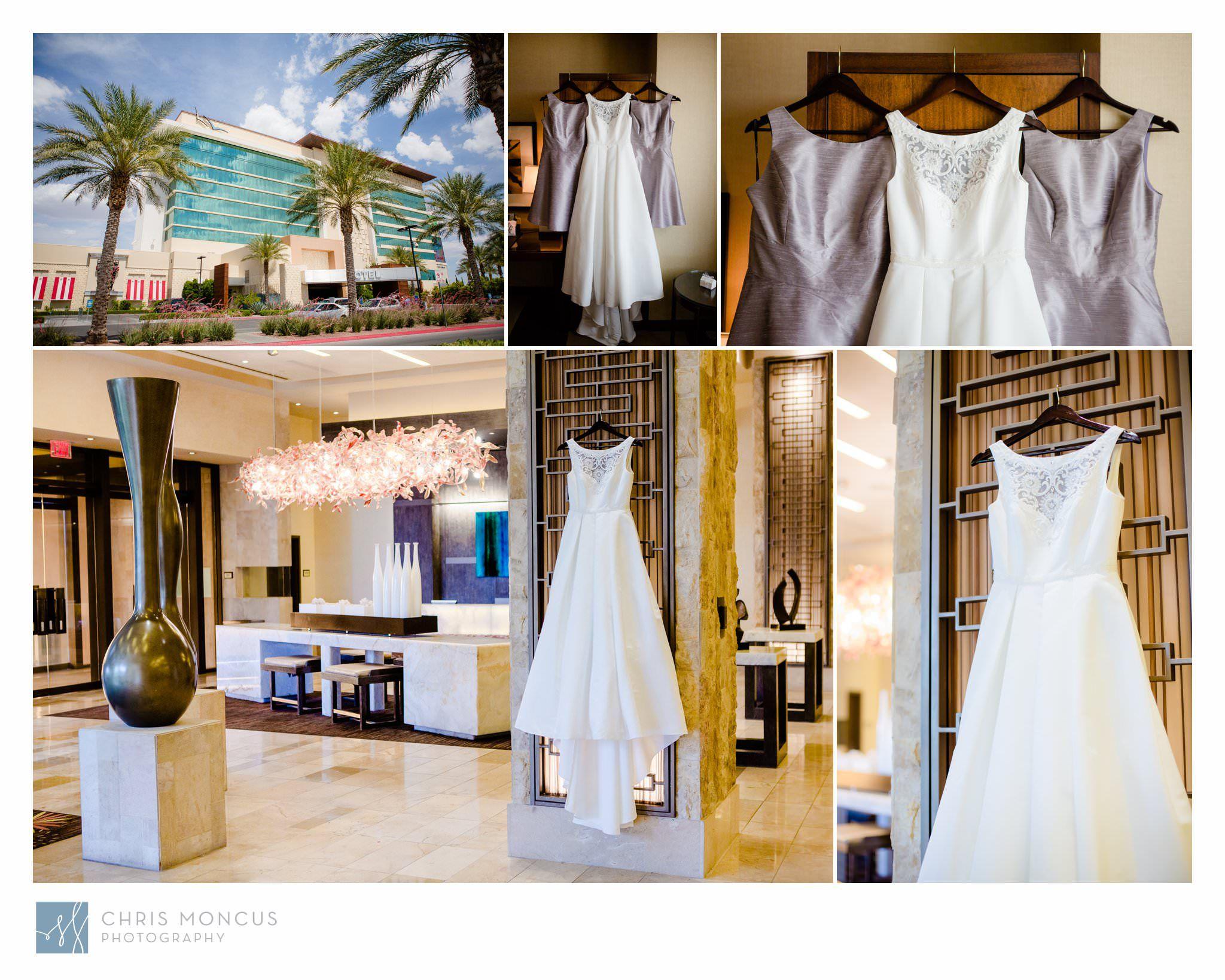 Wedding Dresses in Aliante Casino Lobby Las Vegas