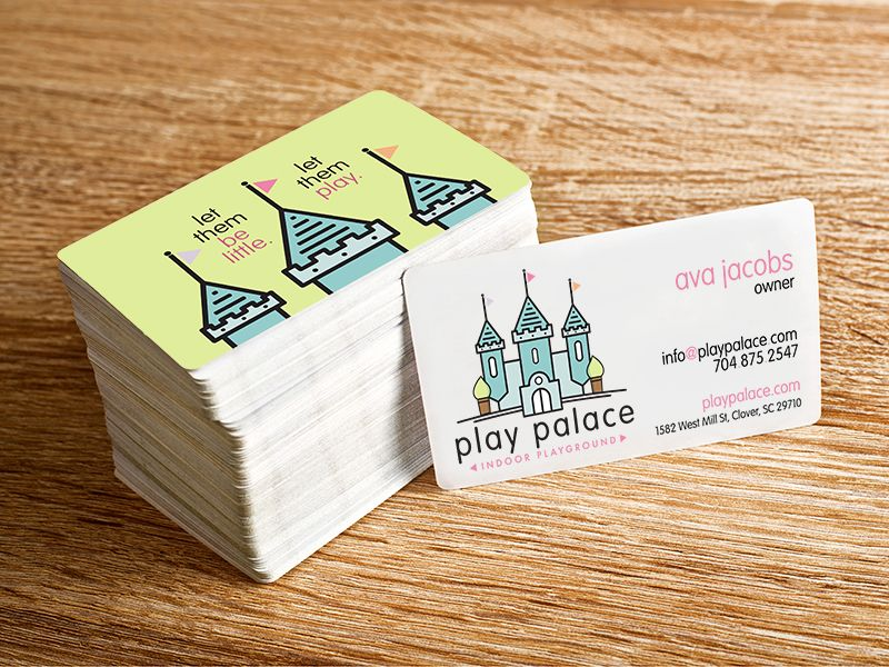 play palace logo and business card design | Business cards, Logos ...