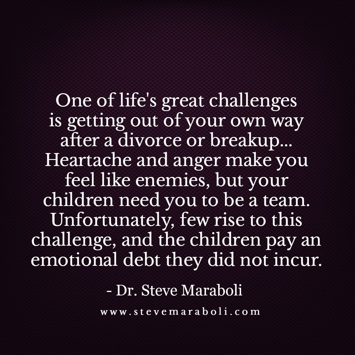 Life After Divorce Quotes One Of Life's Great Challenges Is Getting Out Of Your Own Way