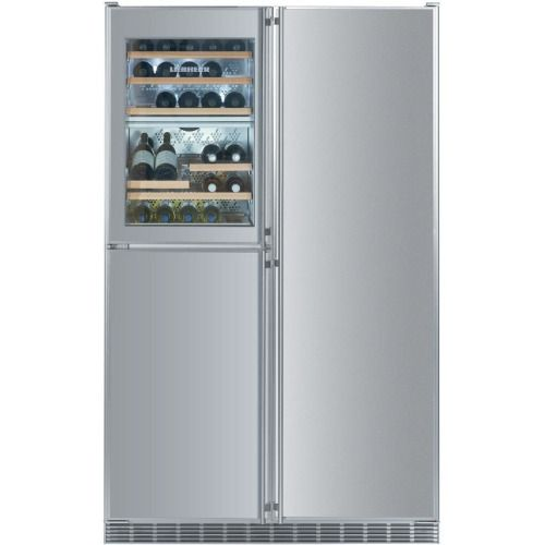 Liebherr 21 8 Cu Ft 5 Zone Built In Side By Side Refrigerator Stainless Steel Sbs 246 Apartment Size Refrigerator Fridge Built In Refrigerator Freezer