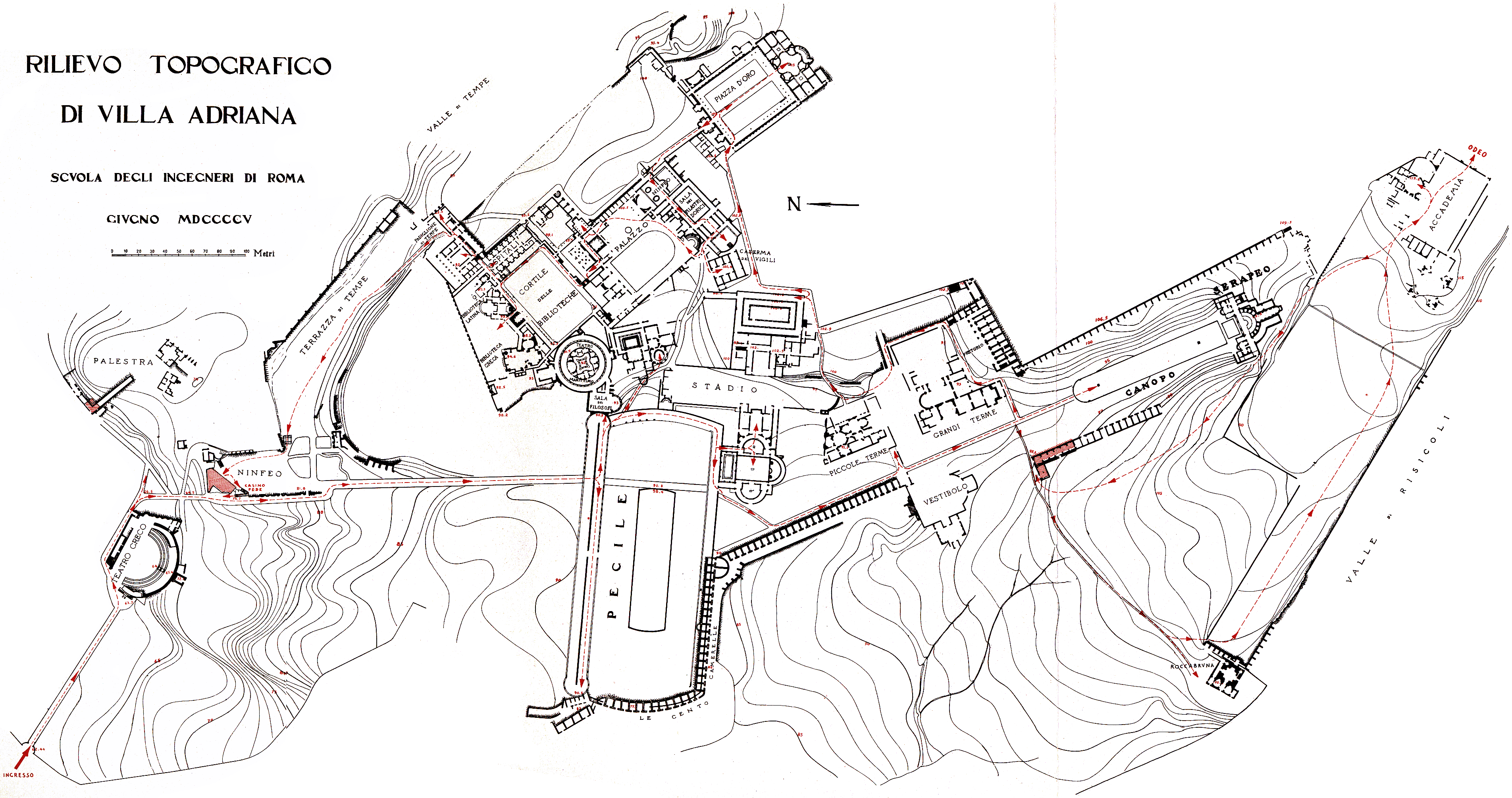 Hadrian Villa Plan Google Search Adriana