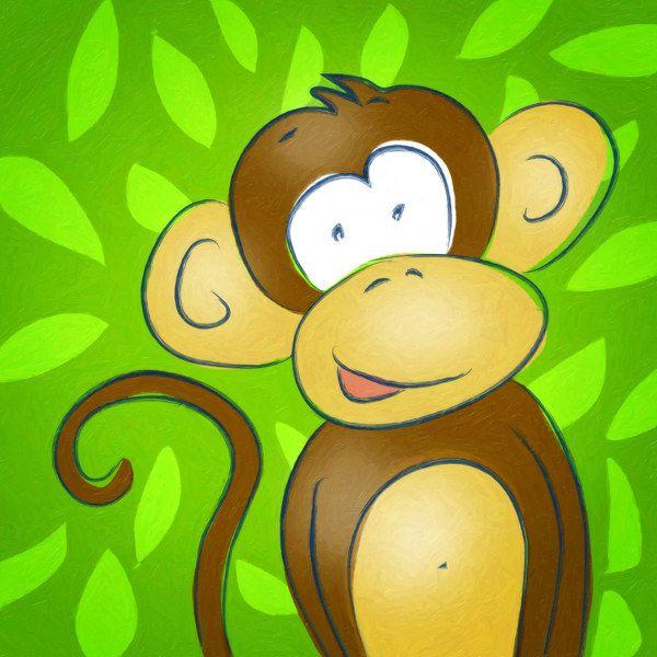 my happy monkey - Kinderzimmer Braun Grn