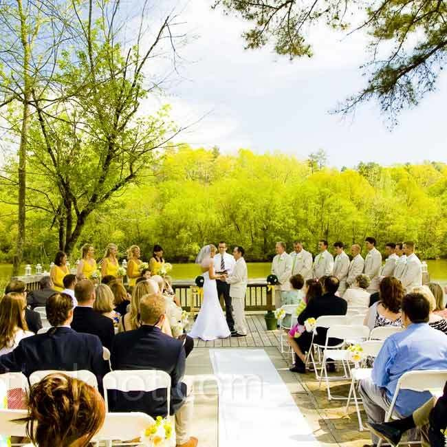 Roswell River Landing Ceremony Riverfront Wedding In GA