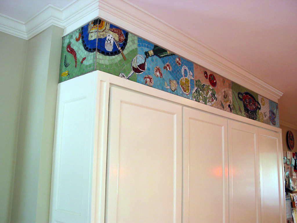 Artistic kitchen glass mosaic backsplashes and images of mosaic tile