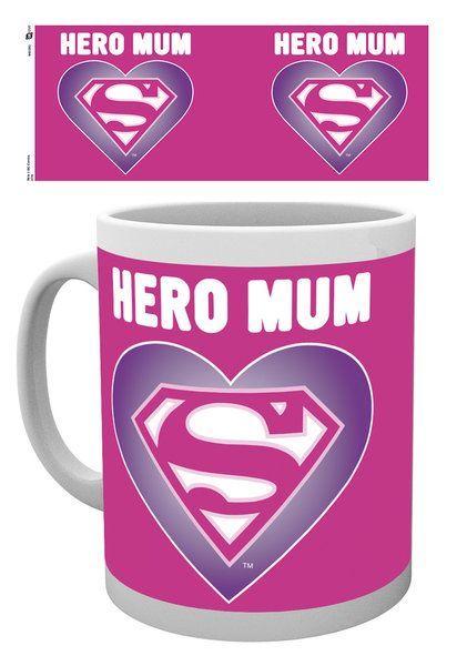 Superman Heart Mothers Day Mug. Speciale Moederdag Mok met de Engelse tekst 'Hero Mum'. #Moederdag #Mothersday #Moederdagcadeau