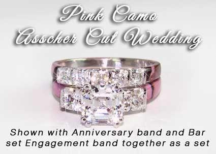 Pin By Alyssa Huisman On I Can Dream Camo Wedding Rings Pink Camo Rings Pink Camo Wedding Ring