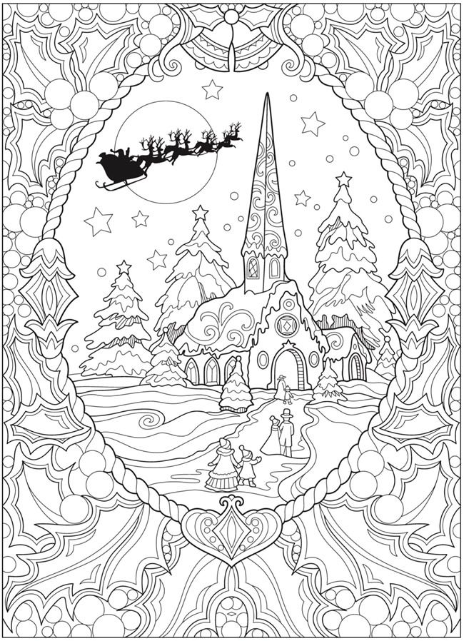 Welcome To Dover Publications Christmas Coloring Books Mandala Coloring Pages Christmas Coloring Sheets