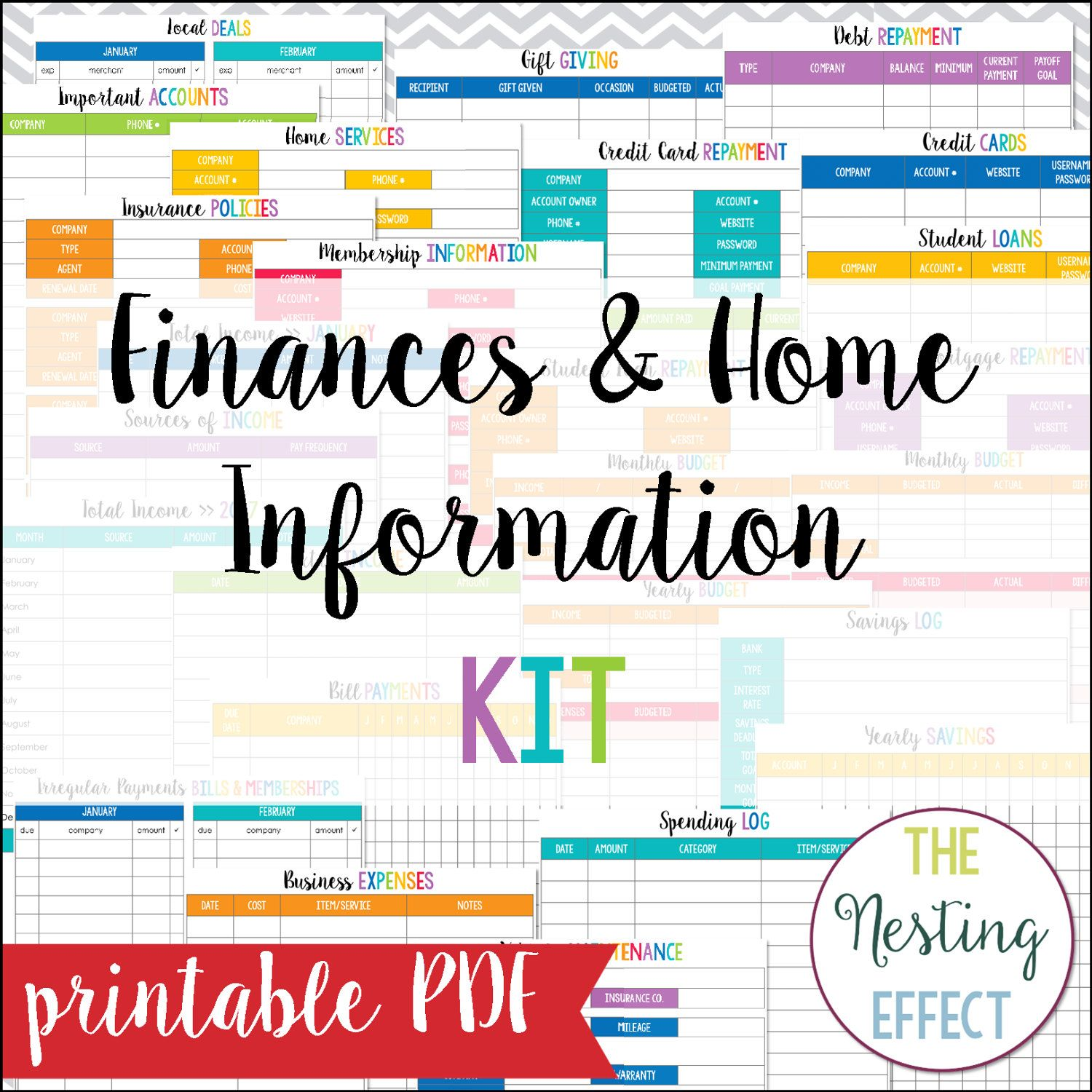 Finances & Home Information Set
