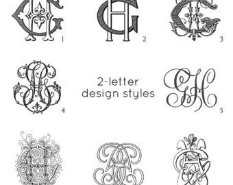 antique monogram choose the style and letter combination