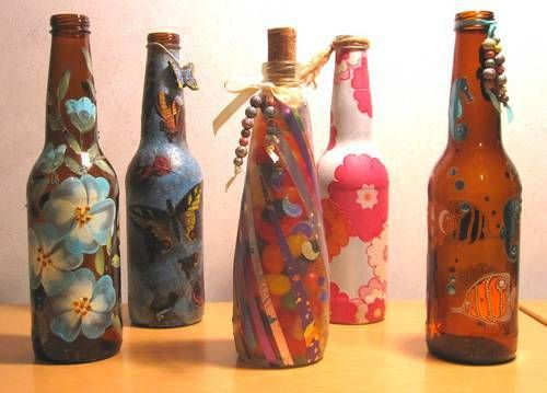 How To Decorate Beer Bottles From the Craftster Community Decorated Beer Bottles for Gifts 2