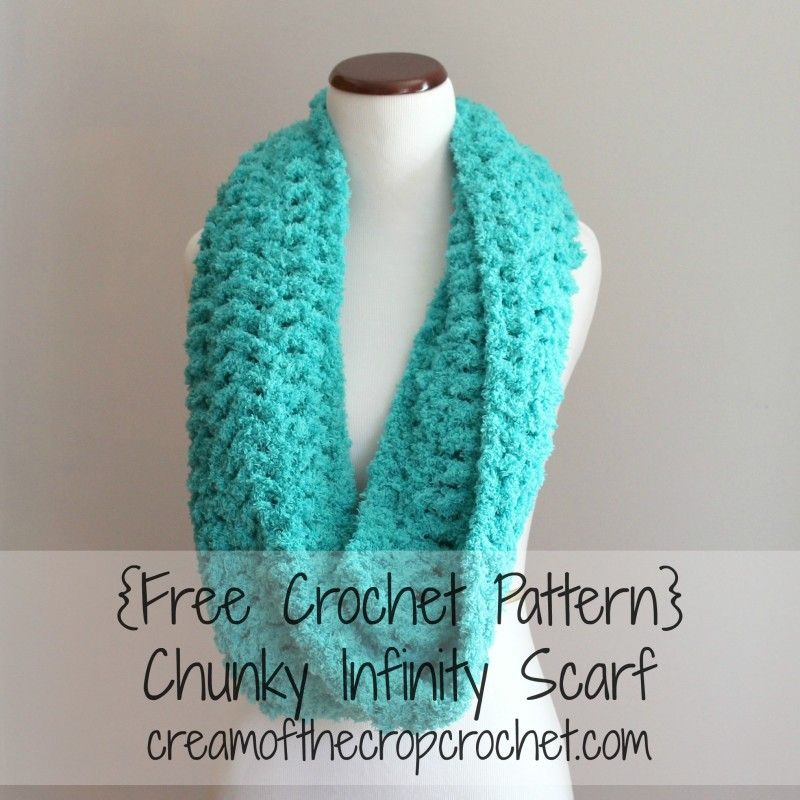 Cream Of The Crop Crochet ~ Chunky Infinity Scarf {Free Crochet ...