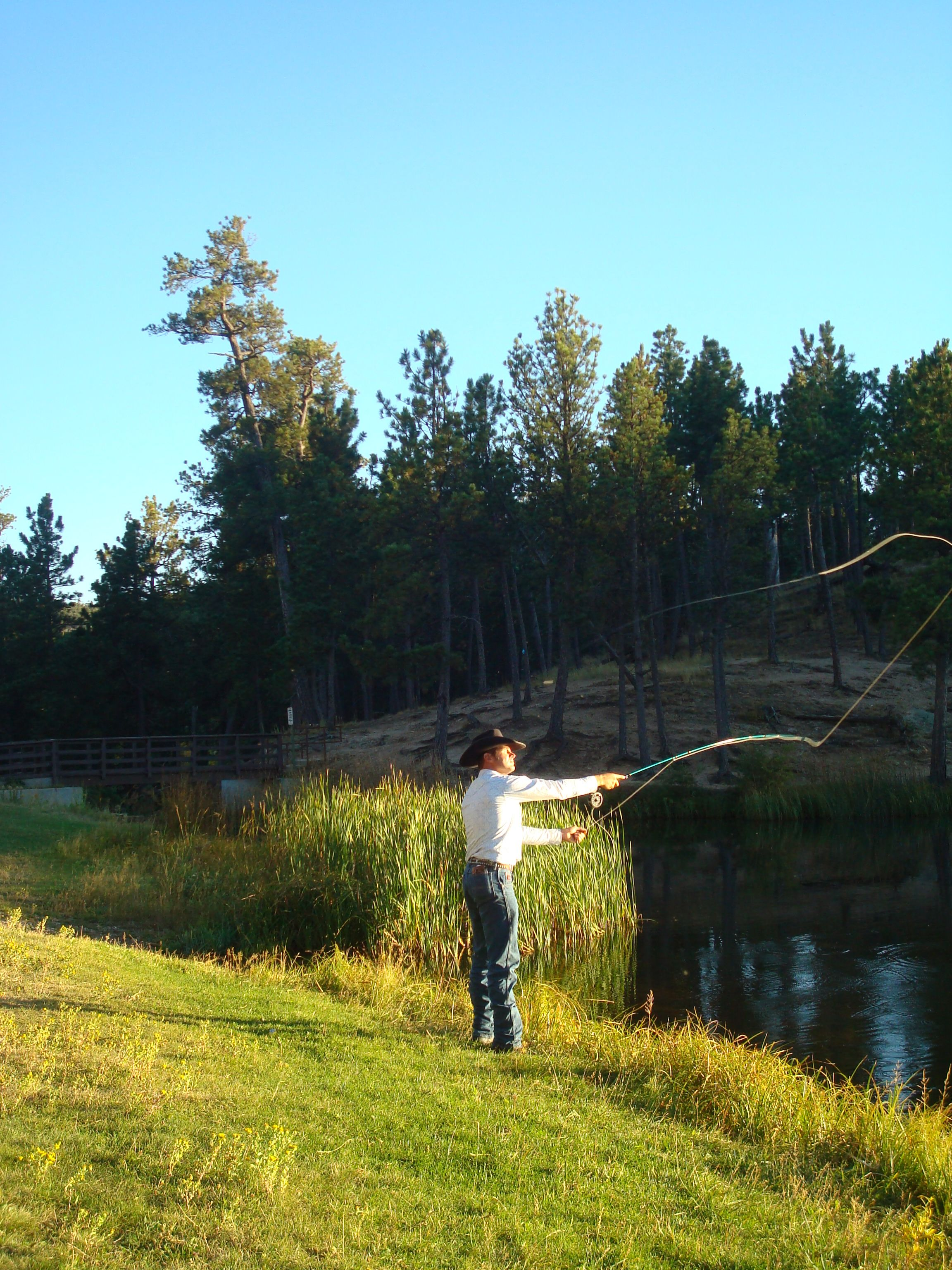 Fly fishing on legion lake in the black hills of south for South dakota fishing
