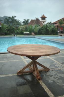 Runder Teak Gartentisch 120cm Garden Table Teak Outdoor Furniture