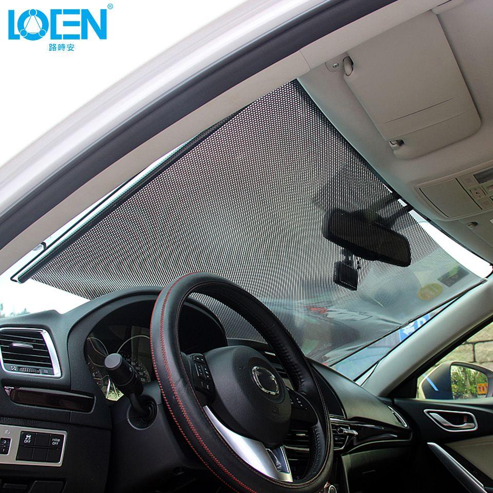 Car window coverings  portable car window retractable sunshade windshield sunshade auto