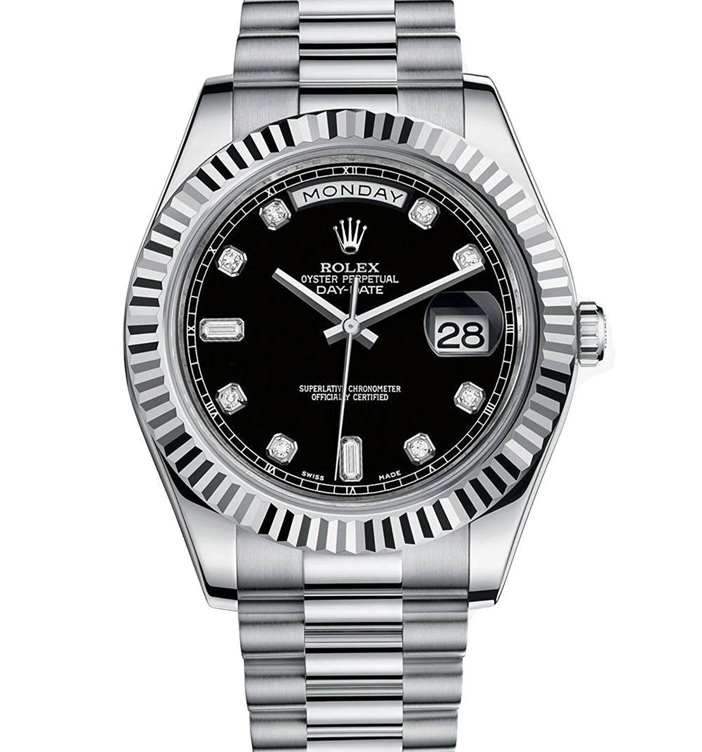 Rolex Day Date II Automatic Black Dial 18kt