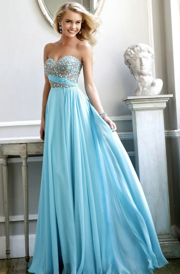 Baby Blue Prom Dress | Cocktail Dresses 2016 | hair | Pinterest ...